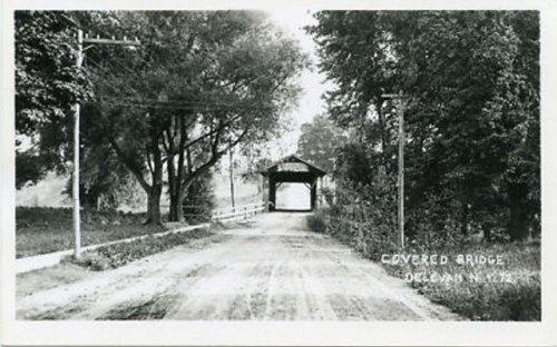 Postcard photo of Covered Bridge