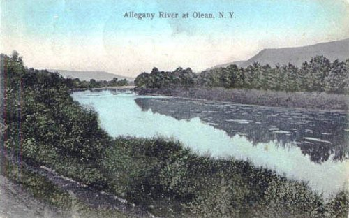 Allegany River, a well traveled highway in the early days of Cattaraugus County