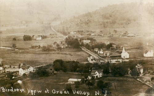 Birdseye view of Great Valley from the Neal Eddy Collection