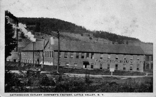 Cattaraugus Cutlery image on postcard circa 1919