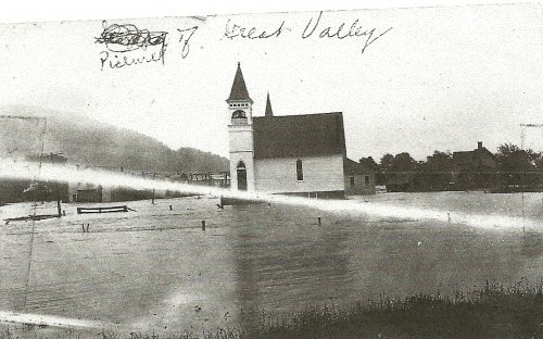 Flooding in Great Valley   Era unknown