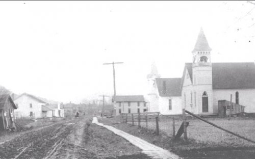 Roads in Great Valley, current 219 in front of the two churches