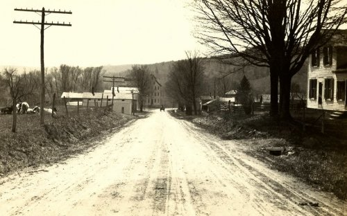 Road down to the Woolen Mill in Otto, NY