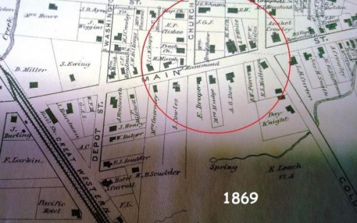 1869 Map of Randolph