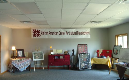 Display at the African American Center for Cultural Development