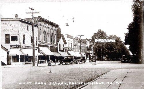 The Village Square in Franklinville, NY