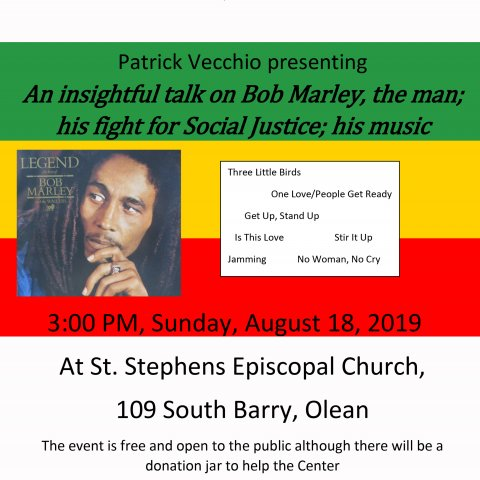 Bob Marley presentation for the African American Center