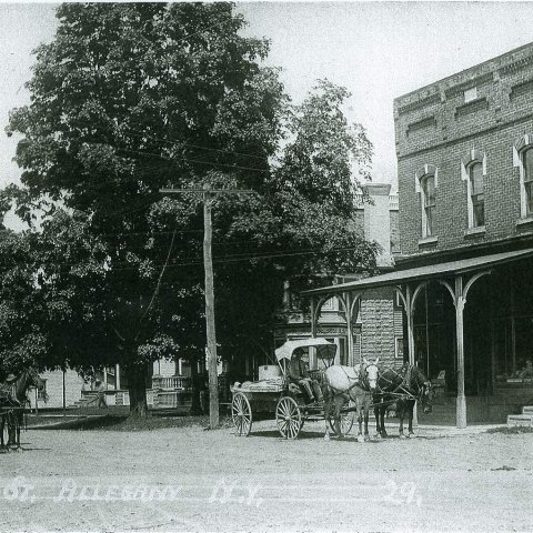 Allegany Area Historical Association presents businesses along Main St.