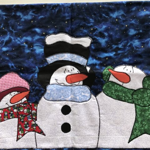 Leon Historical Society's Snowman Door Hanging Quilting Class 2018