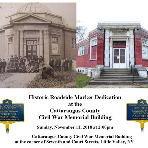 Historic Roadside Marker Dedication with the Cattaraugus County Civil War Memorial Building