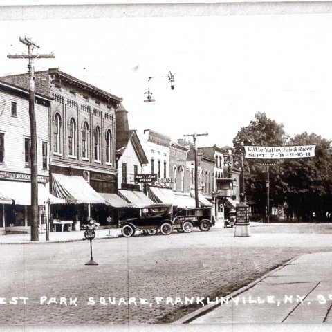 The Village Square in Franklinville, NY