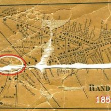 1856 map of Randolph showing location of Woodworth