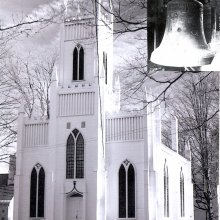 Episcopal Church and 306 year old bell.