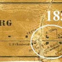 Map of Perrysburg showing Samuel Patch's location
