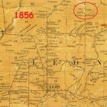map of Leon 1856 showing Wells location