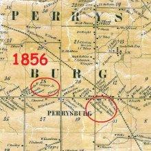 Map of Perrysburg showing William Cooper's location