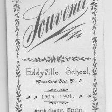 Front cover of School Souvenir  1903-04