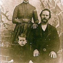 Mr. Giles Stoddard Jr, his wife, Sarah and their son, Theodore